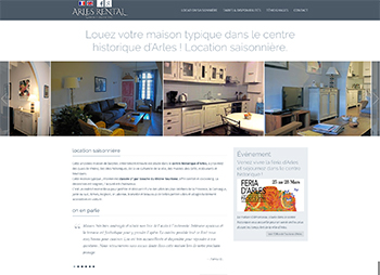 création site web arlesrental.com