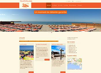 création site web tahitiplage.fr