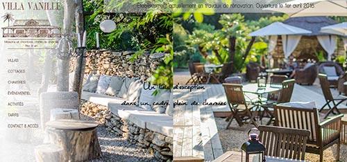 création site web Villa Vanille